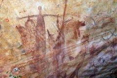Pintura aborigen de la roca Fotos de archivo