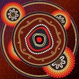 Pintura aborigen del vector del arte Fotos de archivo