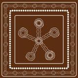 Pintura aborigen del vector del arte Fotografía de archivo