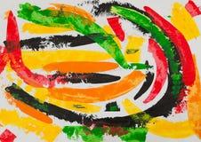 Pintura abstracta stock de ilustración