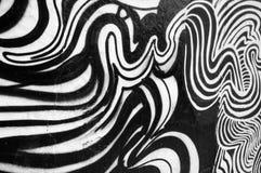Pintura abstracta blanco y negro Fotos de archivo