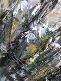 Pintura abstracta coloreada acrílico Imagenes de archivo