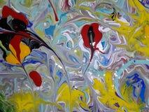 Pintura abstracta coloreada acrílico Imagen de archivo libre de regalías