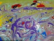 Pintura abstracta coloreada acrílico Imagen de archivo
