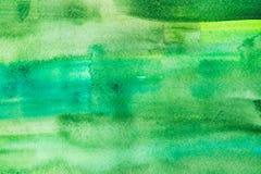 Pintura abstracta con los movimientos verdes claros de la pintura, por completo Imagen de archivo libre de regalías