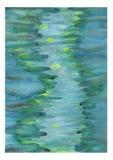 Pintura abstracta de la acuarela Fotos de archivo libres de regalías