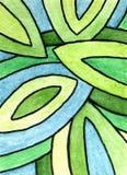Pintura abstracta de la acuarela Foto de archivo libre de regalías