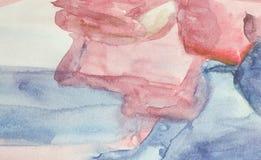 Pintura abstracta de la acuarela del fondo Foto de archivo libre de regalías