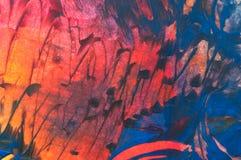Pintura abstracta de la cera, detalle libre illustration