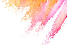 Pintura abstracta de la mano del arte de la acuarela Fotografía de archivo