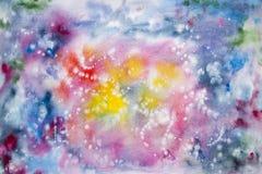 Pintura abstracta de la mano del arte de la acuarela Fondo Fotografía de archivo libre de regalías