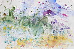 Pintura abstracta de la mano del arte de la acuarela Fondo Imagen de archivo libre de regalías