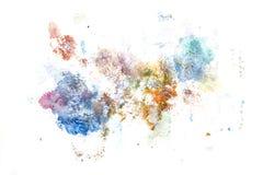 Pintura abstracta de la mano del arte de la acuarela Fondo Foto de archivo