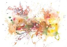 Pintura abstracta de la mano del arte de la acuarela Fondo Fotografía de archivo