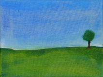 Pintura abstracta de un árbol libre illustration
