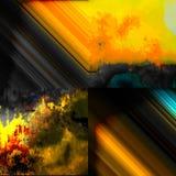 Pintura abstracta del paisaje Imágenes de archivo libres de regalías