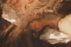 Pintura abstracta en colores de tierra Imagen de archivo libre de regalías