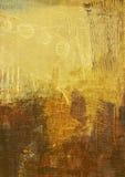 Pintura abstracta en lona Imagenes de archivo