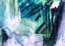 Pintura abstracta, estructura pintada decorativa, pintura moderna, estructura del color, movimientos del cepillo, modelo plástico ilustración del vector