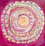 Pintura abstracta, luz colorida hermosa en lona Impresionismo moderno Pintura del movimiento fotografía de archivo