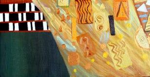 Pintura abstracta original, aceite en lona Imagen de archivo libre de regalías