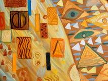Pintura abstracta original, aceite en lona Fotografía de archivo libre de regalías