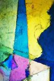 Pintura abstracta y colorida de Digitaces ilustración del vector