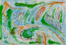 Pintura abstrata ilustração royalty free