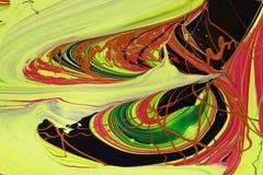 A pintura abstrata colore o fundo Foto de Stock