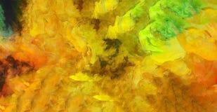 Pintura abstrata colorida brilhante ilustração do vetor