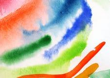 Pintura abstrata da aguarela. Fotos de Stock