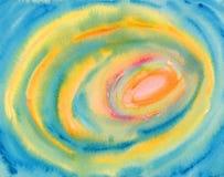 Pintura abstrata da aguarela - círculos coloridos ilustração do vetor