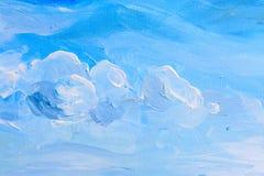 Pintura abstrata da aquarela, pintura do guache na textura de papel Imagem de Stock