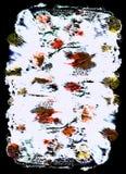 Pintura abstrata da cor brilhante no mono tipo estilo ilustração stock