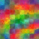 A pintura abstrata da cor do arco-íris telha o fundo da arte do teste padrão Imagens de Stock