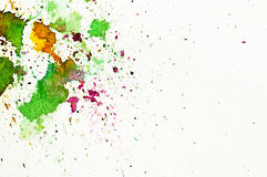 Pintura abstrata da mão do water-color Fotos de Stock