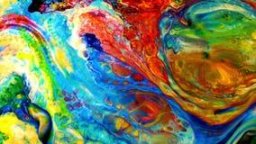 A pintura abstrata da tinta explode a explosão filme