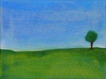 Pintura abstrata de uma árvore ilustração royalty free