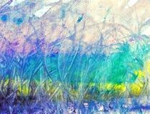 Pintura abstrata do fundo Imagens de Stock