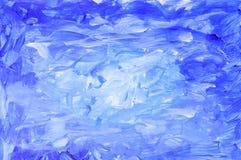 Pintura abstrata do gouache ilustração do vetor