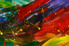 Pintura abstrata do gouache foto de stock