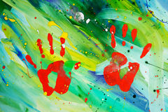 Pintura abstrata do gouache fotos de stock royalty free