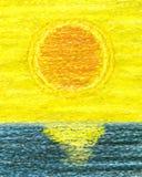 Pintura abstrata do por do sol Fotografia de Stock Royalty Free