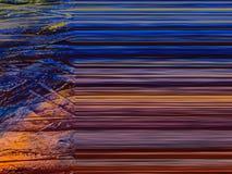 Pintura abstrata feito a mão Surrealismo e misticismo Pintura abstrata do fundo ilustração do vetor