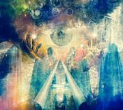 Pintura abstrata místico Imagens de Stock Royalty Free