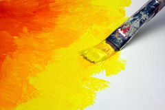 Pintura abstrata na lona Fotografia de Stock Royalty Free