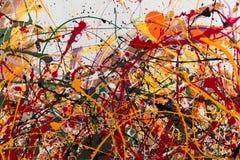 Pintura abstrata: Os cursos com testes padrões diferentes da cor gostam com referência a Foto de Stock Royalty Free