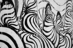 Pintura abstrata preto e branco Fotos de Stock