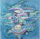 Pintura abstrata Ramalhete das ervilhas Teste padrão nativo Fotografia de Stock Royalty Free