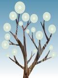 Pintura abstrata retro da árvore   Imagens de Stock